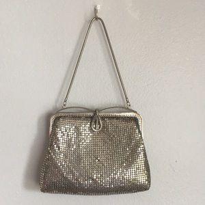 Vintage Bags - VTG Silver Mesh Roaring 20s Flapper Purse